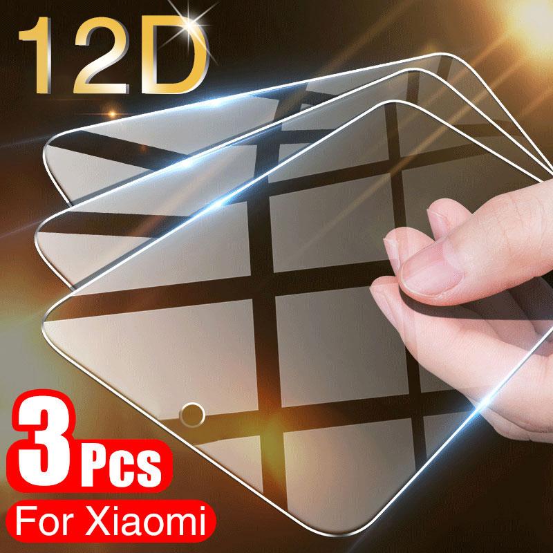 3 pçs cobertura completa de vidro temperado para xiaomi mi 9 se protetor de tela para xiaomi mi 9t 8 lite a3 a2 a1 pocofone f1 max 3 2 vidro