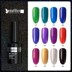 Beautilux Rainbow Nail Gel Polish Holographic Glitter UV LED Nails Art Design Gels Varnish Semi Permanent Nail Lacquer 10ml