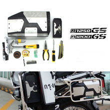 For BMW R1200GS Adventure R 1200 GS LC R1250GS 2013 2020 Decorative Aluminum Box Toolbox 4.2 Liters Tool Box Left Side Bracket