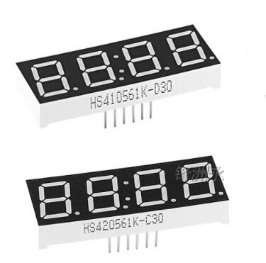 """5PCS Clock Type Digital Tube 0.28"""" 0.36"""" 0.56"""" inch 4 Position segment Common anode/cathode Red 12PIN LCD Digital Display AS/BS"""