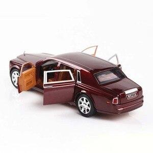 Image 4 - 1:24 Rolls Royce Cullinan alliage voiture modèle Simulation SUV métal voitures modèle lumière son tirer retour échelle voiture Miniatur voiture HC0004