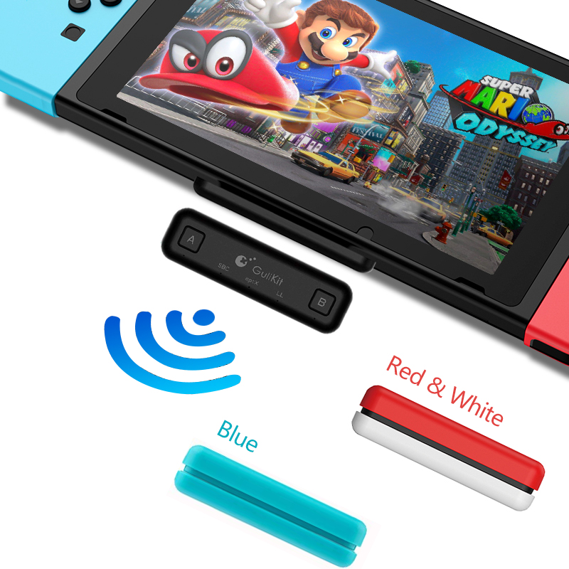 Route Air Switch Bluetooth Adapter Wireless Audio Transmitter W/APTX Low Latency Compatible For Nintendo Switch & Switch Lite