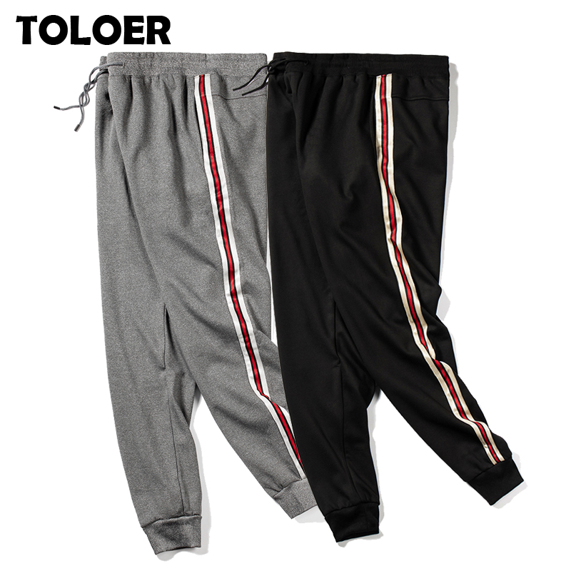 Jogger Pants Men 2020 New Pencil Sweatpants Male Hip Hop Streetwear Drawstring Pants Autumn Male Gyms Side Stripe Loose Trousers