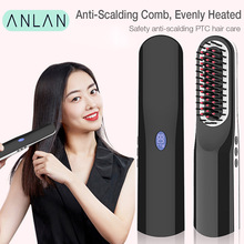 ANLAN Hair Straightener Styling Tool Brush Comb Auto Straight USBCharging