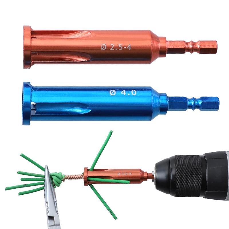 Инструмент для зачистки проводов 2,5/4 квадратный Стриппер для электрического кабеля 2-5 отверстий 1/4 ''шестигранный хвостовик быстрый инструм...