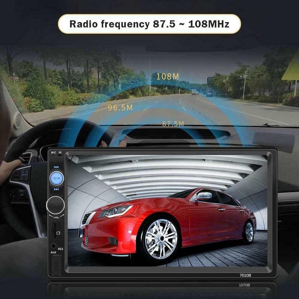 "HD タッチスクリーン 7 ""インチ車のマルチメディアプレーヤー 2 Din ユニバーサル MP5 Autoradio FM TF USB Aux メディアラジオステレオ"