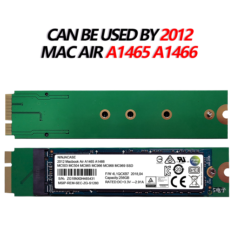 New 128G 256GB 512GB 1TB 2TB For 2012 Macbook Air A1465 A1466 SSD Md231 Md232 Md223 Md224 Solid State Drive MBA 128G Hard Disk