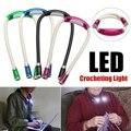 Светодиодный ночник на шею, гибкий вязаный крючком книжный светильник, лампа для чтения громкой связи, освещение в помещении, 4 цвета, на бат...