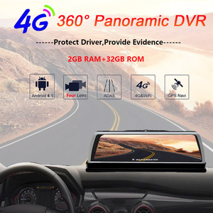 """Image 2 - WHEXUNE Dashcam DVR para coche 4G, 4 canales, ADAS, Android 10 """", consola central, espejo, GPS, WiFi, FHD, 2020 P, lente trasera, grabadora de vídeo, novedad de 1080"""