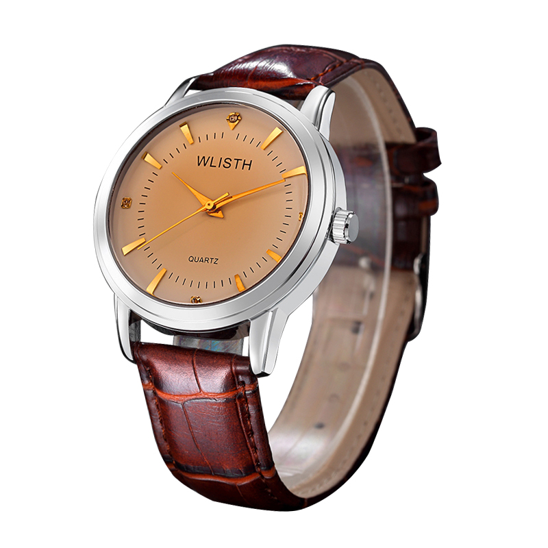 Fashion Couple Quartz Watch Pin Buckle Belt Gold Silver Crystal Watch Stainless Steel Case Man Woman Student Luminous Watches