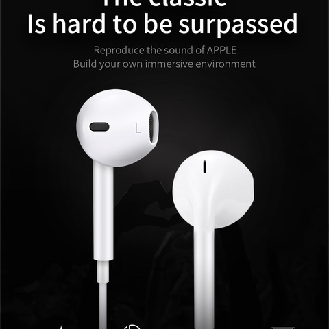 Earphones Headsets with Built-in Microphone 3.5mm HS Ear In-Ear Wired Earphone for Huawei Iphone Xiaomi Samsung Smartphones Lahore
