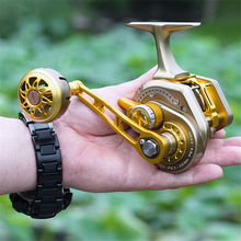 Rooxin Bait Casting Fishing Reel Full Metal Boat Sea Fishing Reel Saltwater Ocean Fishing Wheel Trolling Reel 15BB 30kg Drag