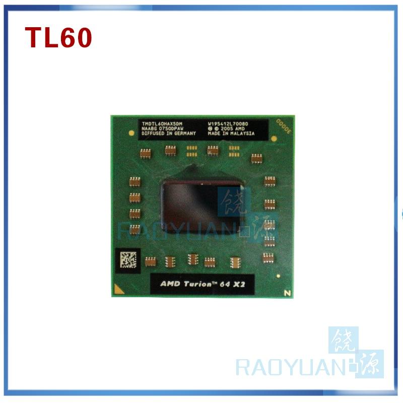 AMD Cpu Laptop Turion TL-60 TMDTL60HAX5DM CPU 1M Cache/2.0GHz/Socket S1/Dual-Core Laptop Processor Tl60 TL 60