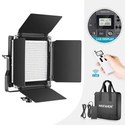 Neewer Advanced 2.4G 660 LED Video Light, Dimmable Bi-Color LED Panel with LCD Screen+2.4G Wireless Remote for Portrait Product