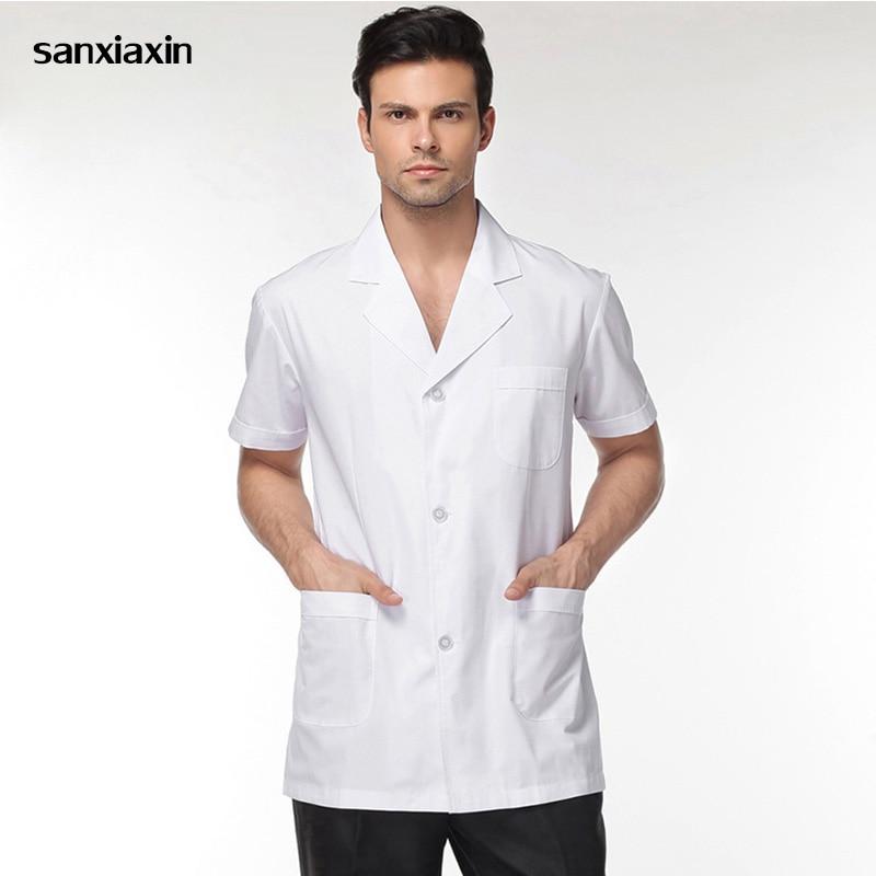 High Quality Medical Clothing Dentist Shirts Lab Jackets Men Women Doctors Uniforms Pharmacy Lab Coat Nurse Uniform White Coat