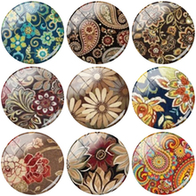 TAFREE Exquisite fashion texture pattern 12/15//16/18//20//25 mm Round Handmade Glass Cabochons & Pendant Cameo Setting TQ544