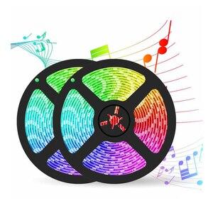 Светодиодная лента для комнаты 12В неоновый rgb luces de colores 5050 decoracion для спальни quarto casal music sync 32ft водонепроницаемый светодиод