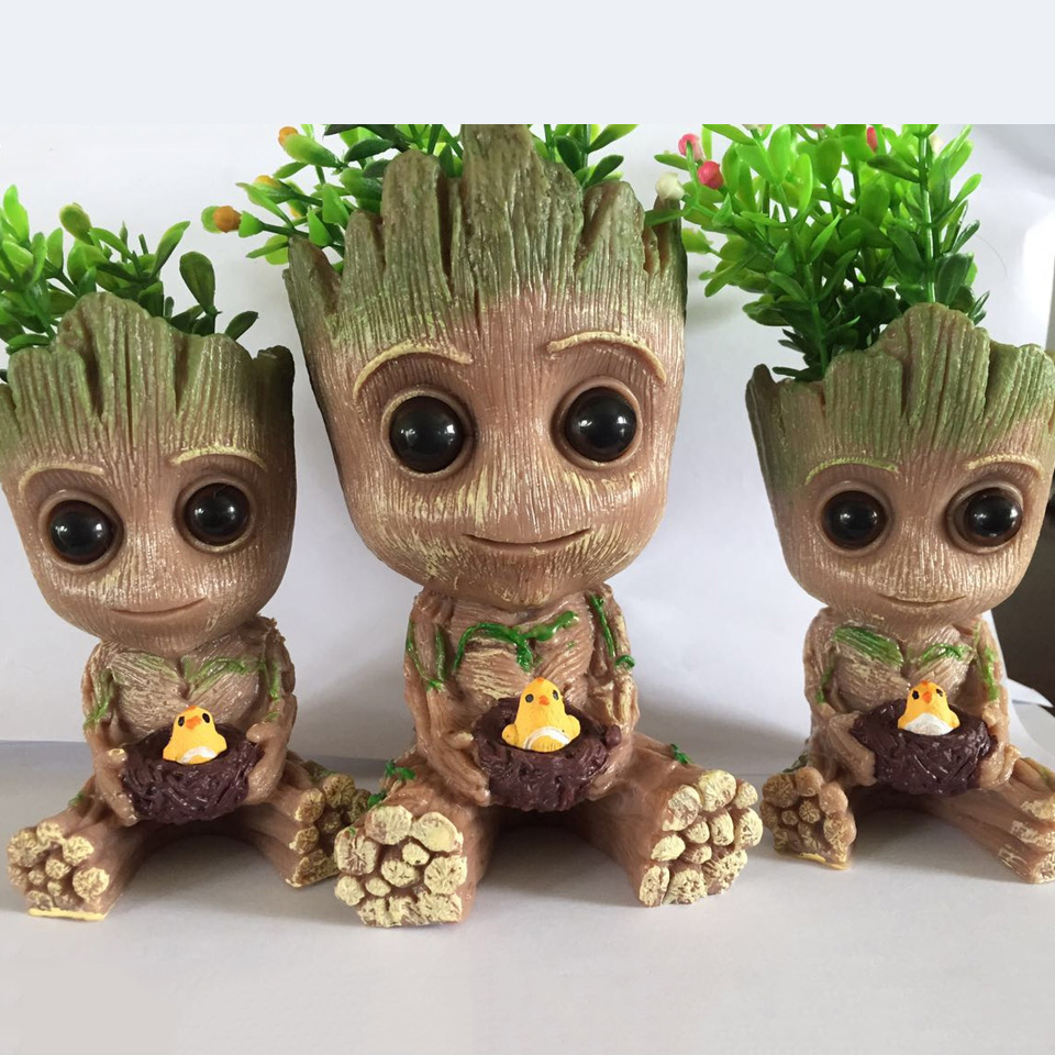 Carton-Flowerpot-Baby-Groot-Pen-Pot-Holder-Plants-Flower-Pot-Cute-Action-Figures-Toys-for-Kids