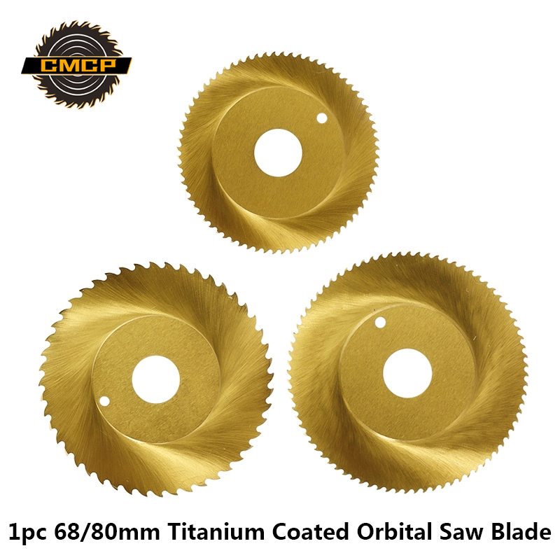 1pc 68/80x16mm Titanium Coated Orbital Saw Blade HSS Pipe Metal Cutting Blade Circular Saw Blade For Stainless Steel Pipe