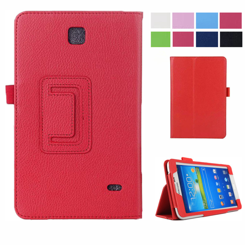 SM-T231 SM-T230 PU Leather Flip Case Cover For Samsung Galaxy Tab 4 7.0 T230 T231 T235 Litchi Stand Cases 7 Inch Tablet