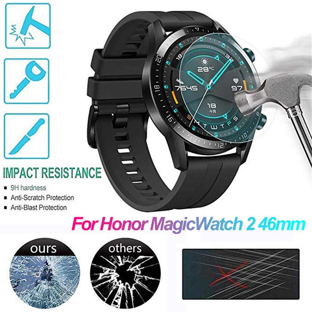 Nuevo 3D borde curvado de vidrio templado película protectora HD Ultra delgado Protector de pantalla Smart Watch película para Honor Magic Watch 2 46mm