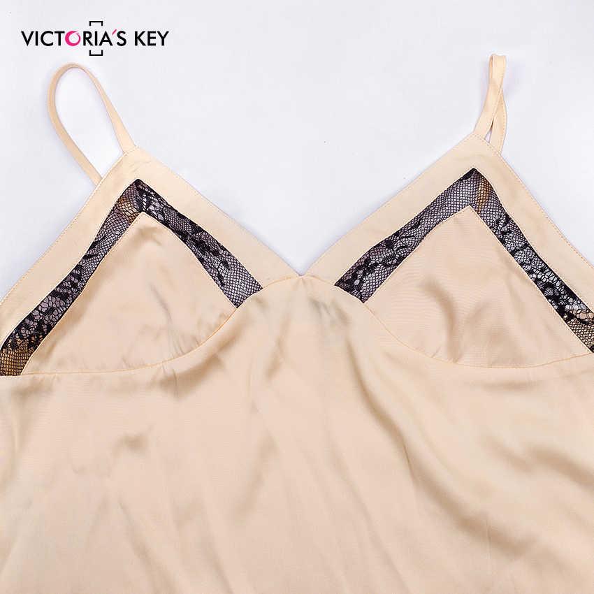 Victoria's Sleutel Kaki Sexy Nachtkleding Vrouwen Pyjama Set Satijnen Cami Top Shorts Mesh Streep Kant Vrouwelijke Zomer Thuis Night Pak 2019
