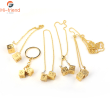 Hot Movie Star Wars Necklaces Beads Chain New design Gold Lucky Dice Prop Pendants Adjustable collar Fashion summer Jewelry