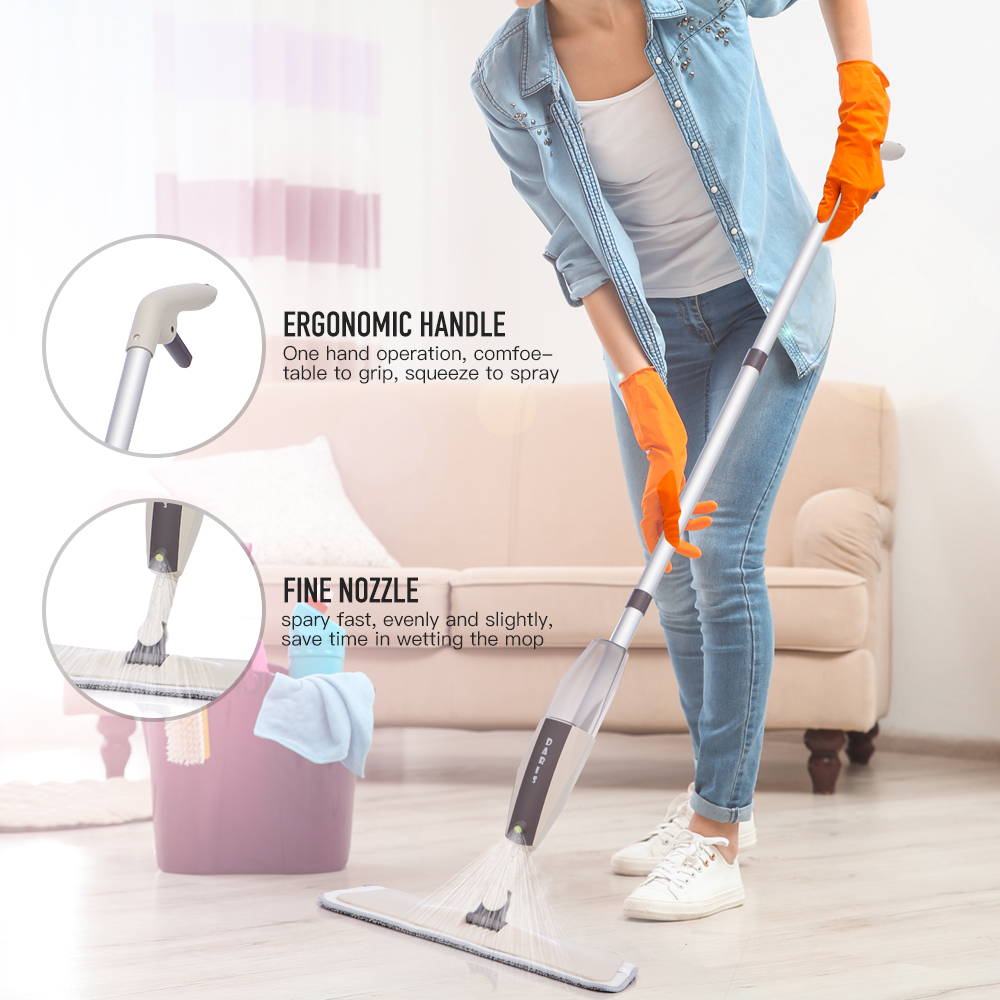 Spray Floor Mop with Reusable Microfiber Pads 360 Degree Handle Mop for Home Kitchen Laminate Wood Ceramic Tiles Floor Cleaning-1