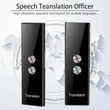 Tradutor inteligente sem fio portátil de 68 idiomas, tradução de voz instantânea em tempo real, aplicativo bluetooth, multilíngue