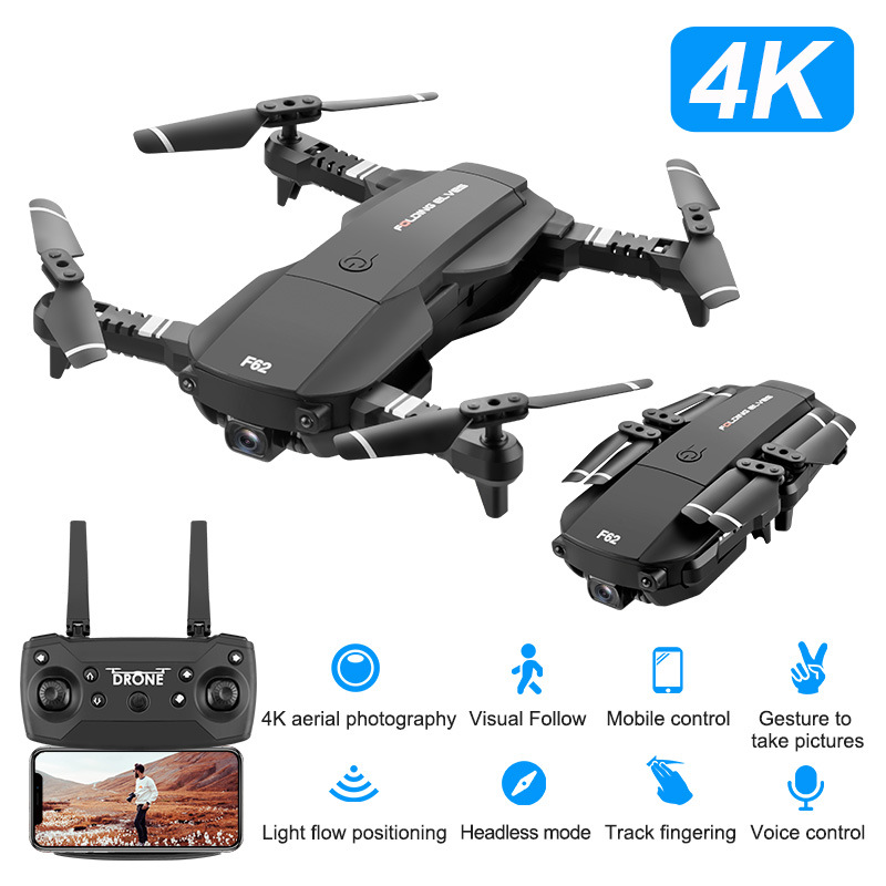 F62 New Style 4K High-definition Aerial Photography Optical Flow Set High Remote Control Aircraft Hot Selling Follow Unmanned Ae