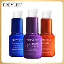 Breylee 20ml vitamina c creme cuidados com a pele sacos para os olhos hidratante círculos escuros endurecendo soro ácido hialurónico tslm2