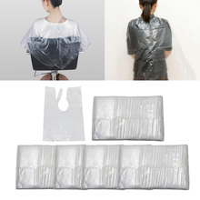 500 Pieces Disposable Hair Cutting Capes Plastic Salon Gowns Barber Shop Waterproof Apron 60 x 80cm