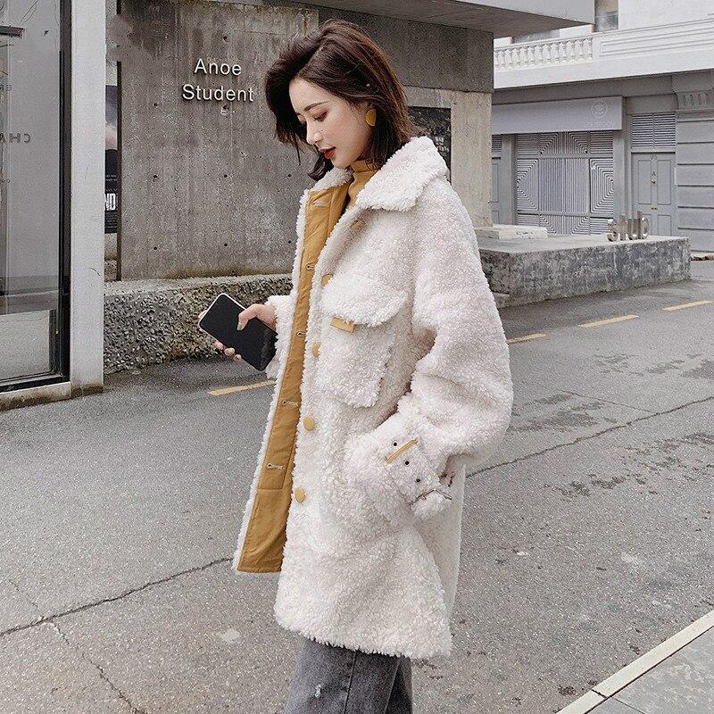 Real Fur Coat Women Korean Sheep Shearing Winter Coat Women 100% Wool Jacket Women Clothes 2019 Manteau Femme B19F36063 YY1169