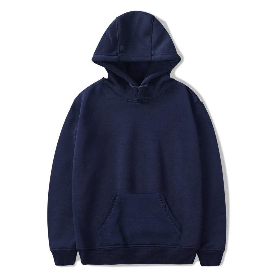 Harajuku Men's Fashion Cotton Solid Color Custom 2D Diverse Creative Style Hoodies Loose Printed Casual Hooded Sweatshirt