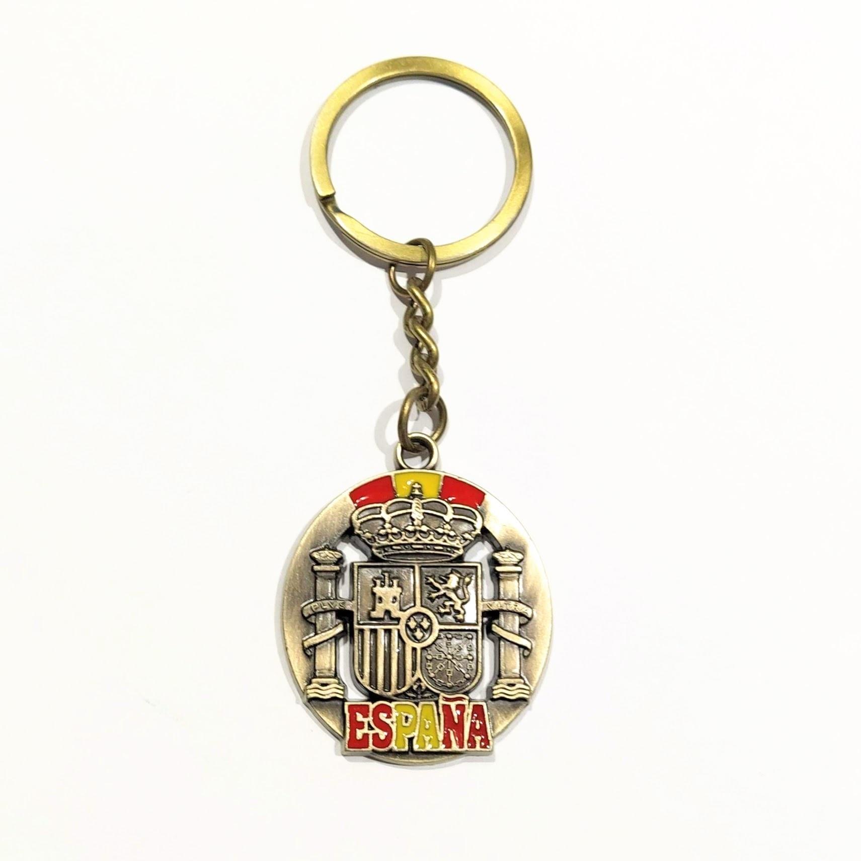 Keychain Gilding Flag Of Spain With Shield Spanish