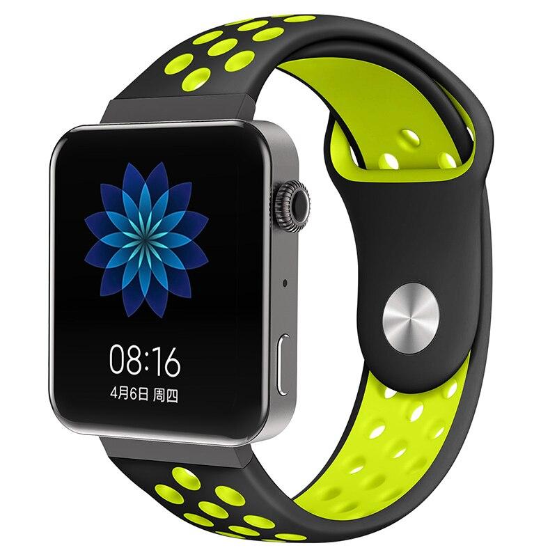 Мягкий силиконовый ремешок для часов для xiaomi smart watch, новинка, сменный ремешок для mi watch, резиновый ремешок для часов, аксессуары - Цвет: 8060