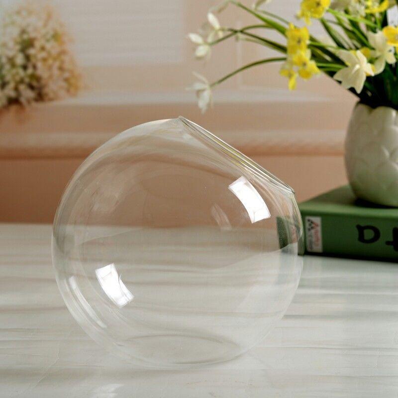 Flower Plant Clear Glass Vase Hanging Planter Terrarium Container Party Wedding Decor Bottle Pot Home Garden Ball Round Vase New - Цвет: E