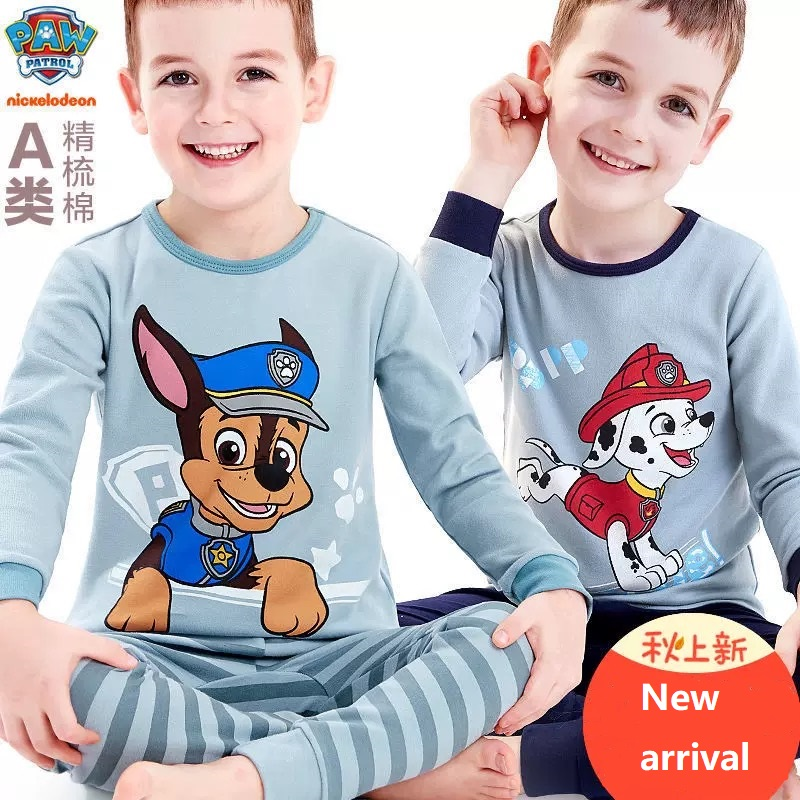 Genuine Paw Patrol Children's Pajamas Marshall Chase Rubble Baby 95% Cotton Cartoon Comfortable Pure Cotton Boys Birthday Gift