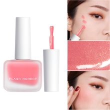 5 Colors Peach Liquid Blush Cosmetics Face Contour Matte Nude Blusher Silky Lasting Natural Korean Makeup Shimmer Cheek Tint miss rose brand matte blush palette peach cheek shimmer bronzer singel blusher on contour cosmetics 12 colors face makeup powder