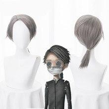 アイデンティティv embalmerイソップカールグレーコスプレ耐熱人工毛ハロウィンカーニバルロールプレイパーティー + 無料ウィッグキャップ