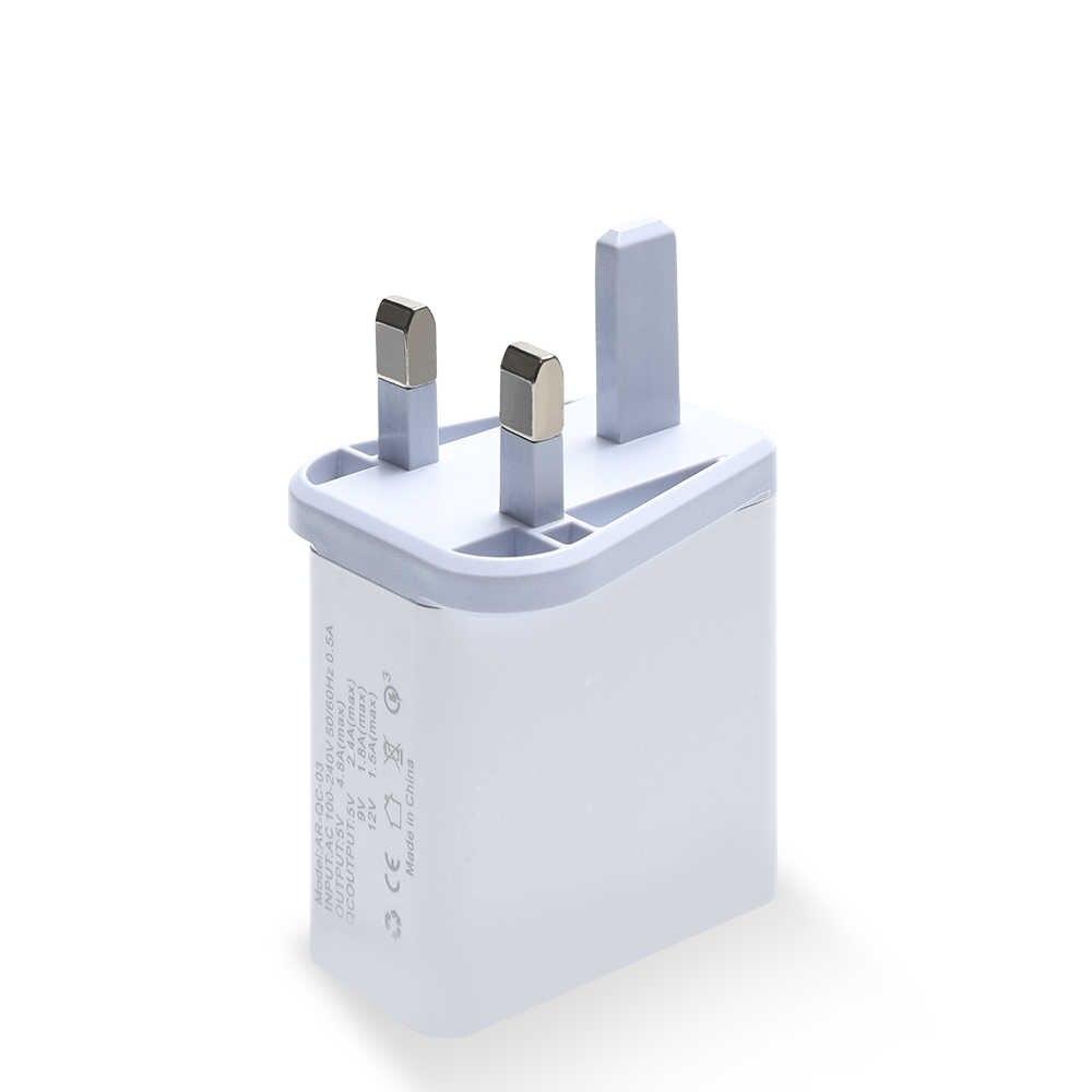 شاحن هاتف سريع 3.0 USB محول لسامسونج A50 A30 آيفون 7 8 هواوي P20 اللوحي QC 3.0 سريع الجدار شاحن 48 واط الولايات المتحدة الاتحاد الأوروبي المملكة المتحدة التوصيل
