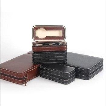 Watch Box PU Leather Portable Zipper Organizer 2