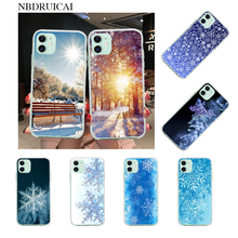 NBDRUICAI Winter Pattern Snowflakes Coque Shell Phone Case for iPhone 11 pro XS MAX 8 7 6 6S Plus X 5S SE XR cover(China)