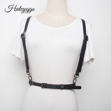 HATCYGGO Sexy Slim Leather Harness Belts For Women Tight Street Strap Belt Female Body Bondage Cage Sculpting Punk
