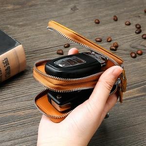 Винтажный кошелек для ключей из натуральной кожи, мужской маленький кошелек для монет, кошелек для женщин, органайзер для ключей, чехол для ...
