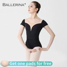 Femmes Ballet manches courtes justaucorps pratique danse Costume aéraliste yoga filles gymnastique justaucorps 3513