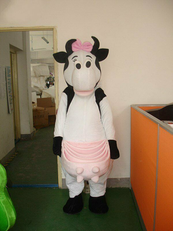Vache mascotte Costume Cosplay partie jeu robe tenue publicité Halloween adulte à la main dessin animé personnage mascotte Costume cadeau