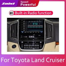 ZaiXi Android 2 Din Car radio Multimedia Video Player auto Stereo GPS MAP For Toyota Land Cruiser LC200 2016-2019 Media Navi цена