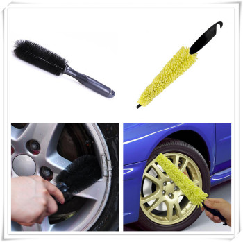 Auto Car Brush Clean Wheel Tire Wash Sponges for Renault Latitude Laguna Frendzy DeZir Safrane ZE Megane Kadjar R-Space image