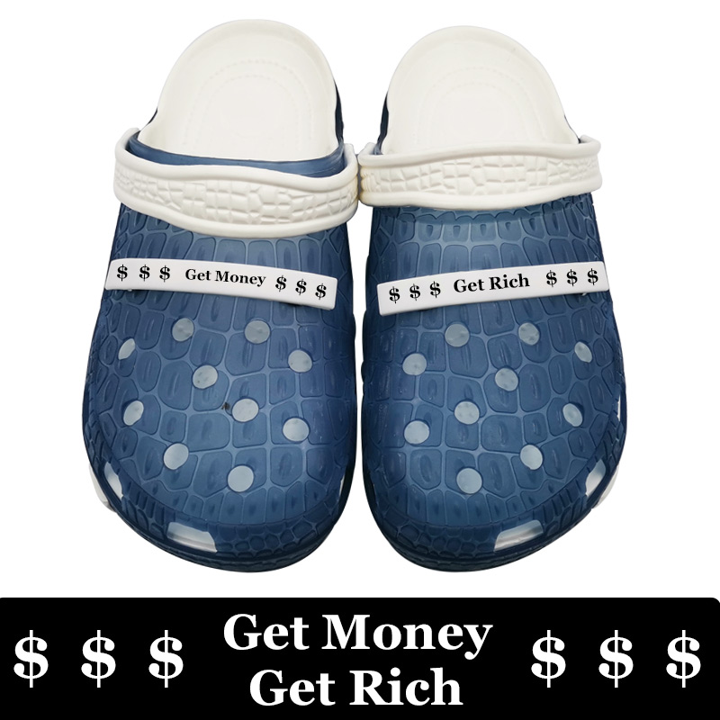 Hot Sale Get Money Get Rich Beach Mmassage Slippers Soft Eva Shoes Men Casual Sapato Masculino Zapatos De Hombre Kapcie Osasuna Sloffen